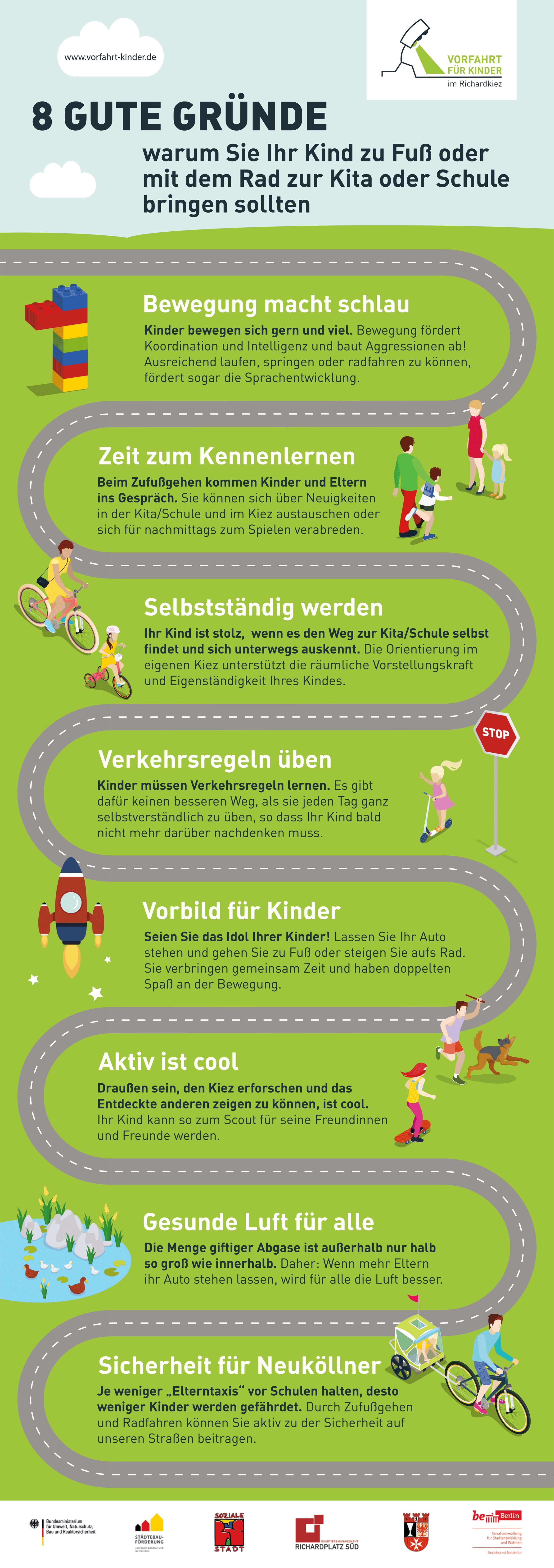 8 gute Gründe, warum Sie Ihr Kind zu Fuß oder mit dem Rad zur Kita oder Schule bringen sollten